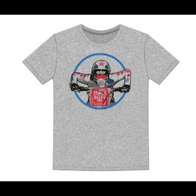 Tee shirt SE RACING Mike Buff grey