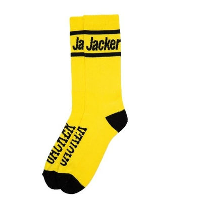 CHAUSSETTES JACKER AFTER LOGO YELLOW