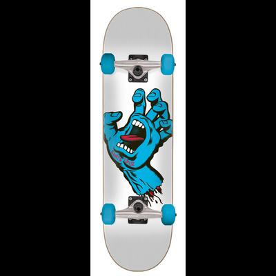 SKATE COMPLET SANTA CRUZ 8.25 SCREAMING HAND 31.8 BLUE WHITE