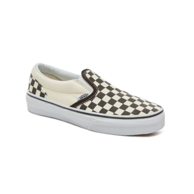 SHOES VANS CLASSIC SLIP-ON (CHECKERBOARD) BLACK/WHITE JUNIOR