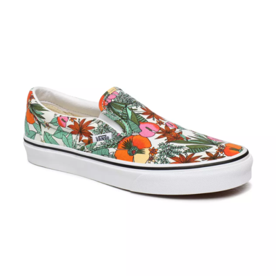 SHOES VANS CLASSIC SLIP-ON (MULTI TROPIC) BIT OF BLUE/TRUE WHITE