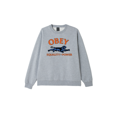 SWEAT OBEY EQUALITY & POWER GREY HEATHER