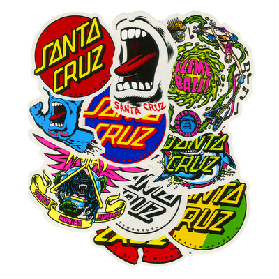 STICKERS SANTA CRUZ PACK DE 10