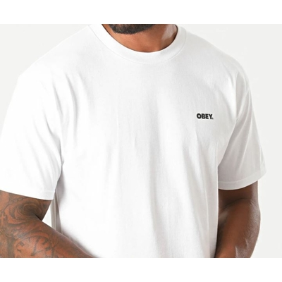 TEE-SHIRT OBEY BOLD WHITE