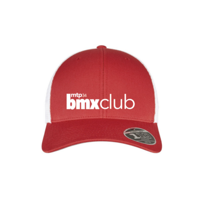 CASQUETTE MPTBMX RIDE UK FITTED SNAP RED/WHITE