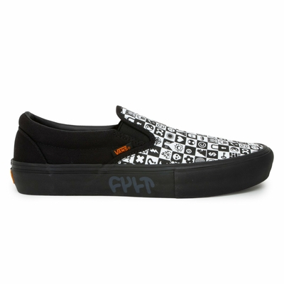 SHOES VANS/CULT SLIP ON PRO BMX BLACK CHECKER