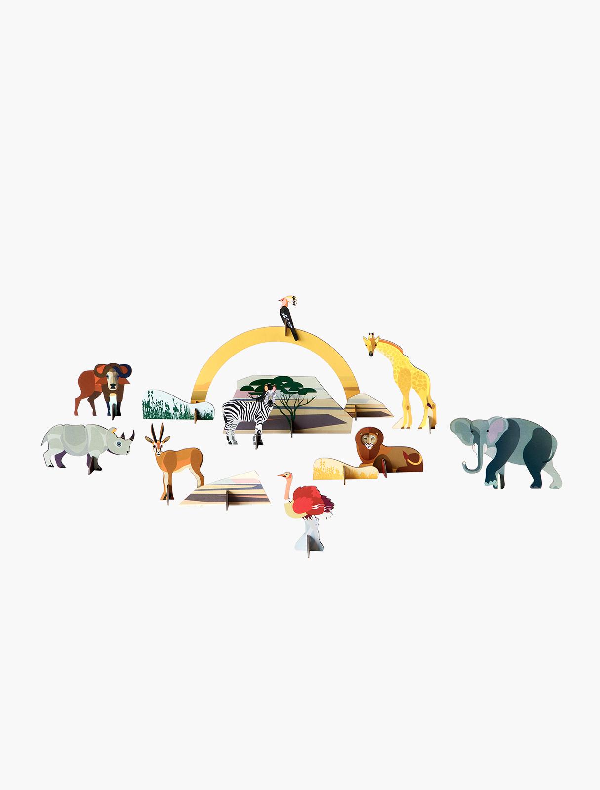 Objets 3D - animaux de la savane