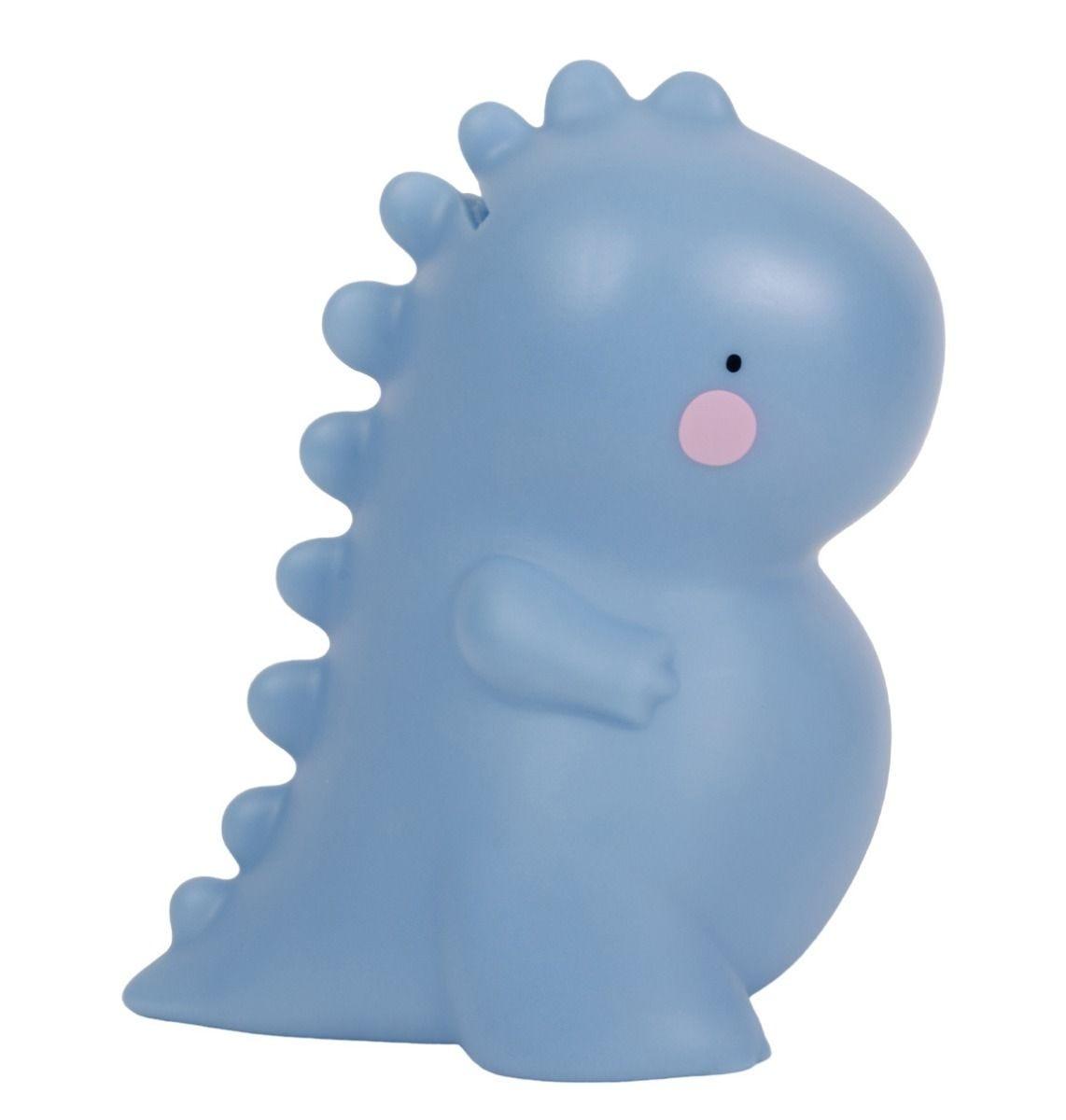 Tirelire t-rex bleu
