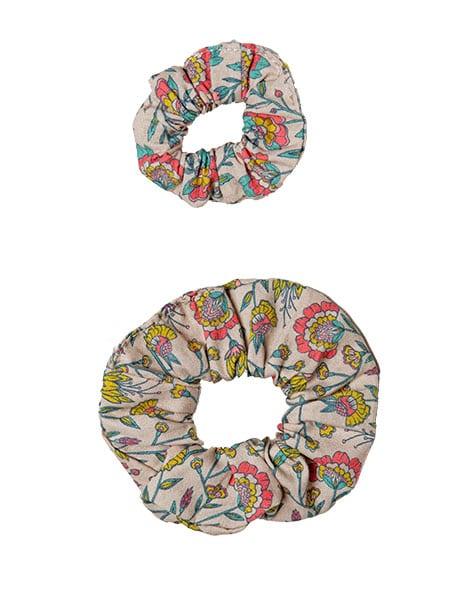 Collection Duo - Chouchou en coton Fleurs en liane