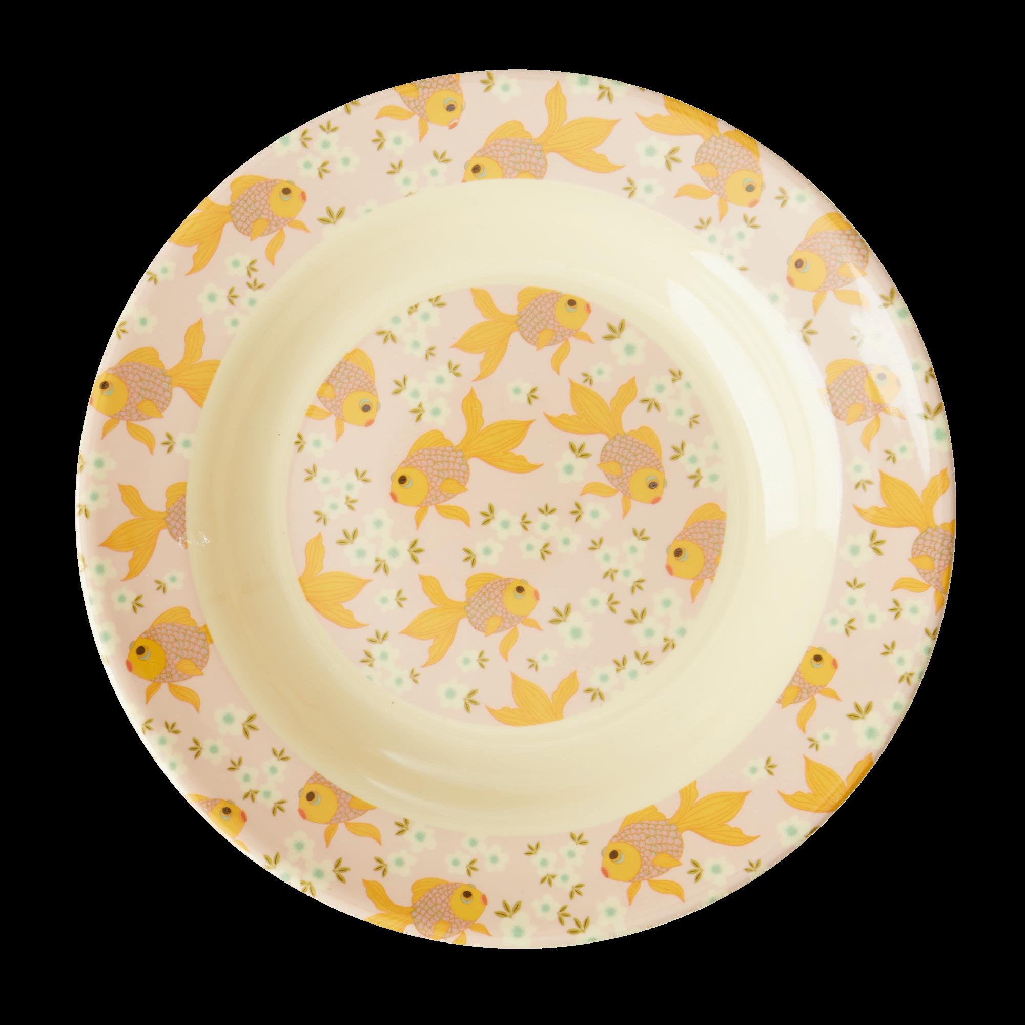 Assiette creuse en mélamine - Poissons