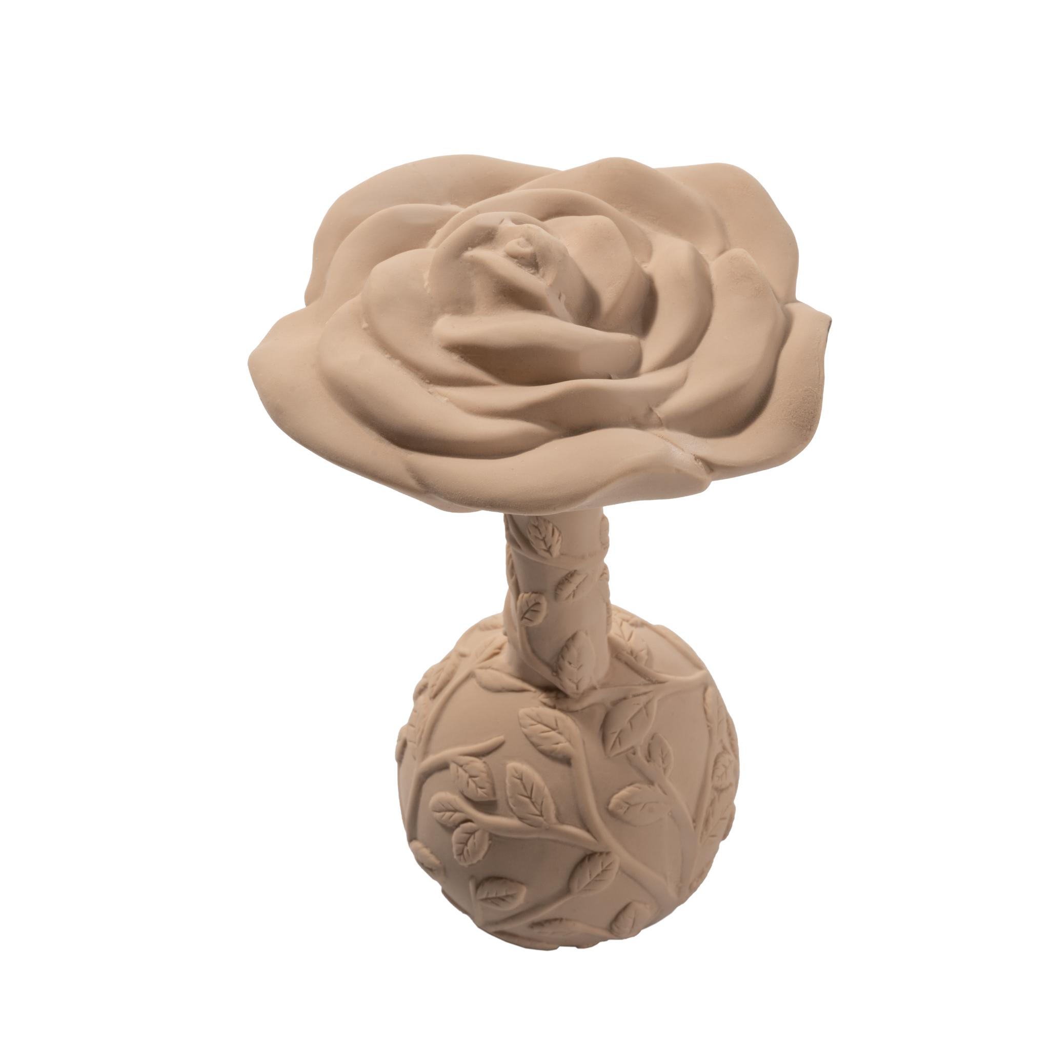 Hochet de dentition fleur - rose