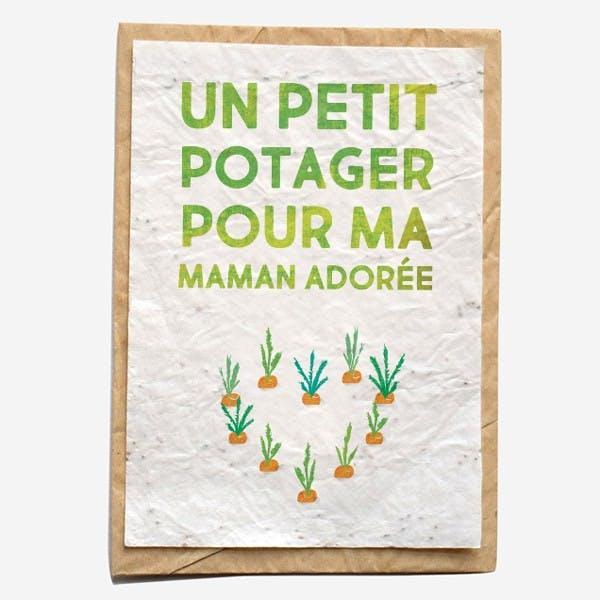 Carte à planter - Un potager pour maman