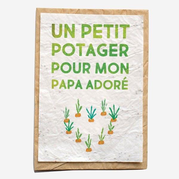 Carte à planter - Un potager pour papa