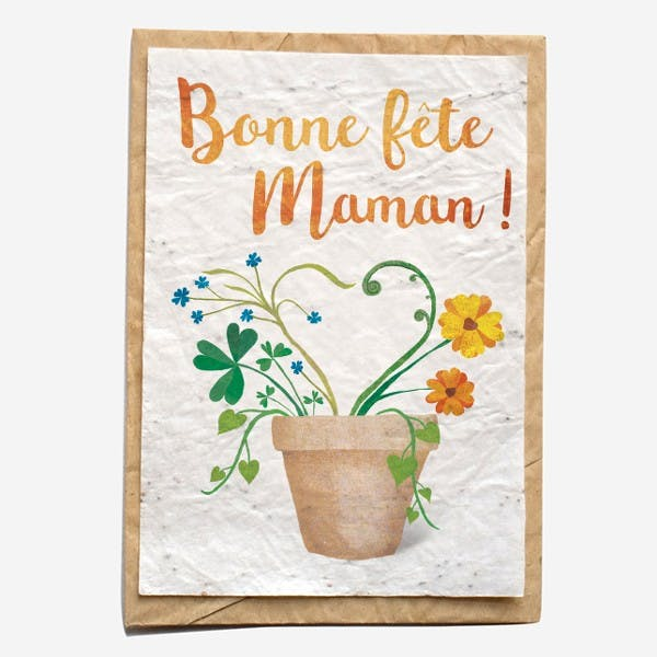 Carte à planter - Pot fête des mères