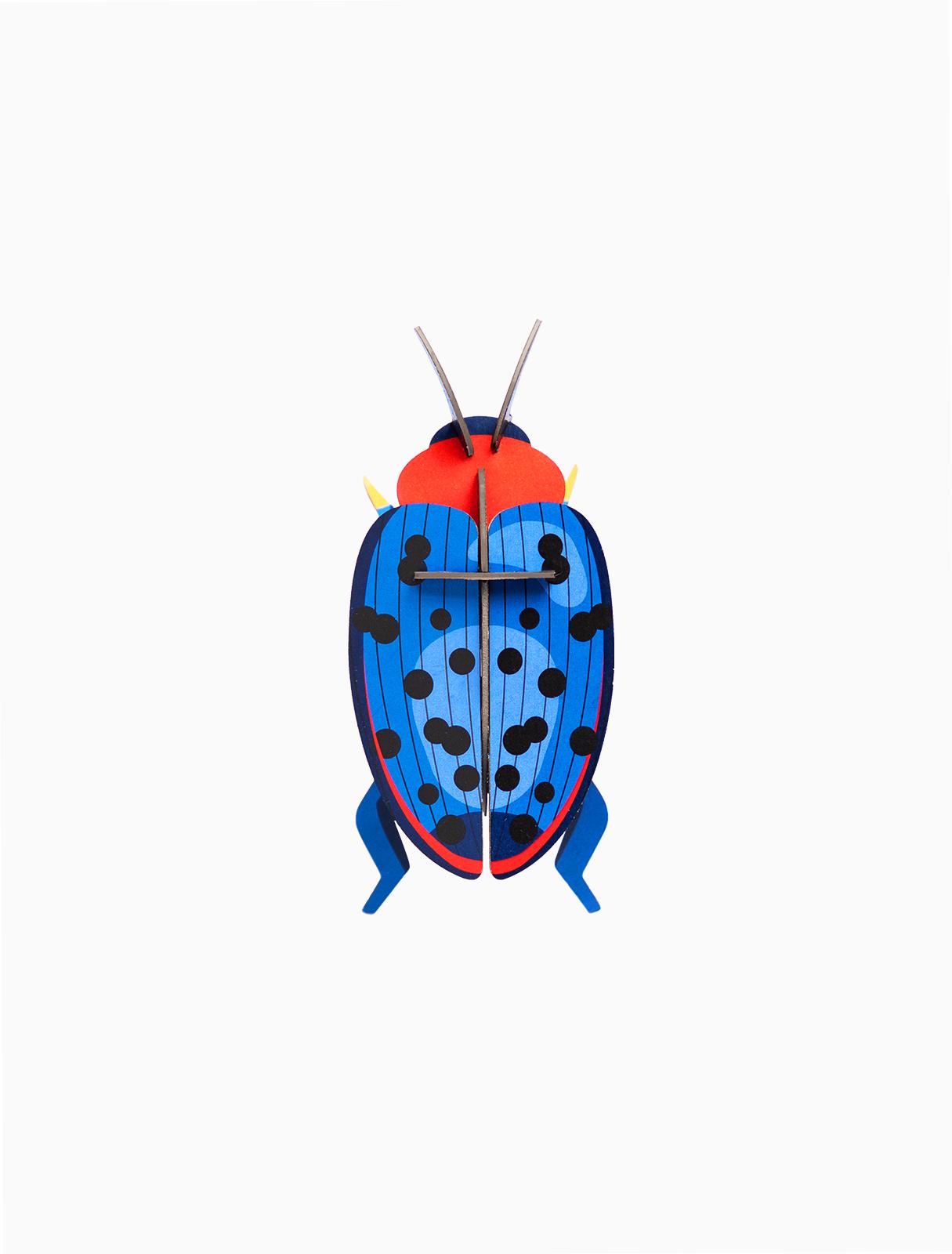 Décoration murale scarabée bleu, fungus beetle