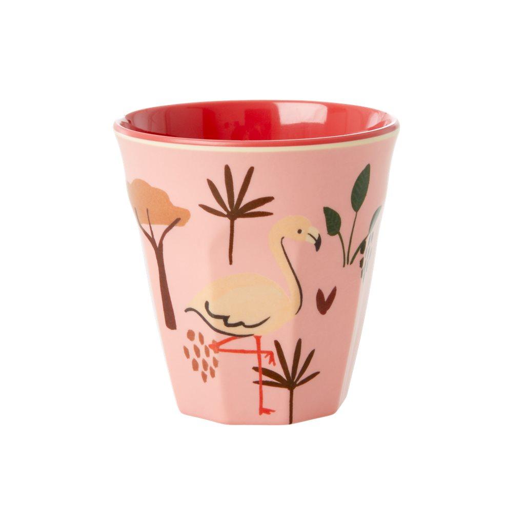 Petit verre en mélamine savane rose