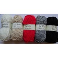 Pelotes laine et acrylique de la Pelote Parisienne 50gr aig 7