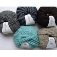 Pelotes alpaga et laine de Lang 50gr aig n° 7 ou 8