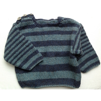Kit pull rayures yak et laine aiguilles n°4