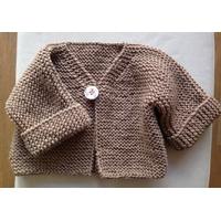 Kit pour cardigan pure laine aiguilles N°5,
