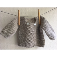 kit brassière point de riz tricotée en transversal
