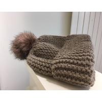 Bonnet ample laine et acrylique