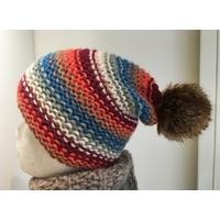 Bonnet alpaga coloré