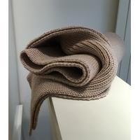 Echarpe pure laine fine beige