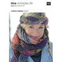 Catalogue de modèles Rico tricotés en mélange Chunky