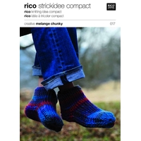 Chaussons en crochet - Laine Chunky Rico