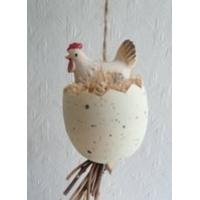 Guirlande poules et œufs couleur vanille