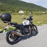 moto Royal enfield himalayan 410 sleet vue de côté