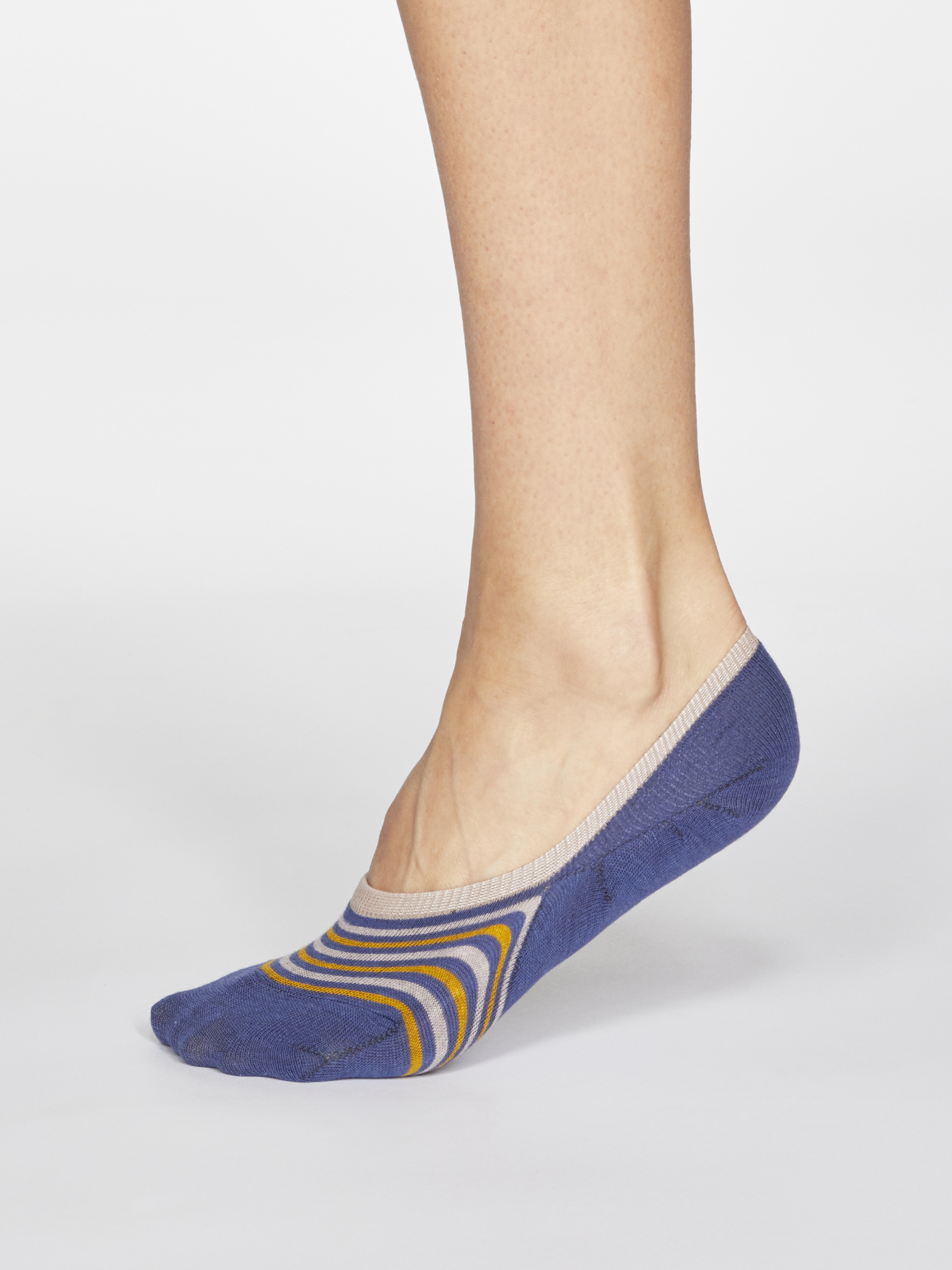 SPW644-MINERAL-BLUE--Kris-Striped-Bamboo-Organic-Cotton-Blend-No-Show-Socks-in-Mineral-Blue-1S