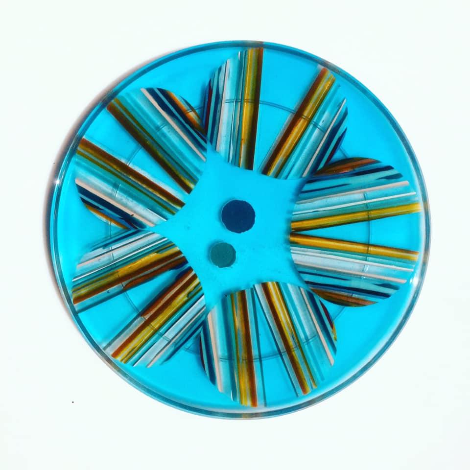 Dessous de plat en résine - Ø21cm