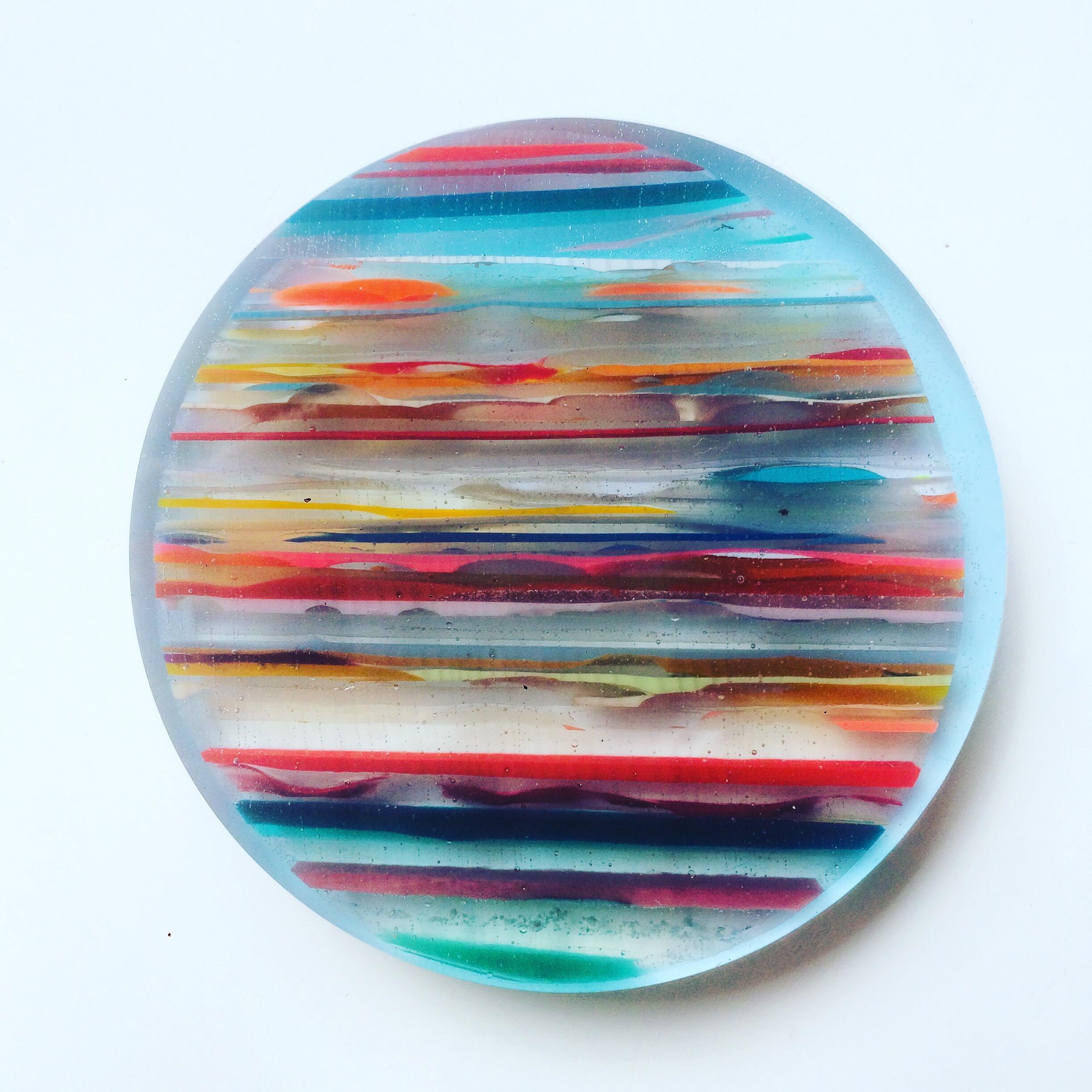 Dessous de plat en résine - Ø14cm