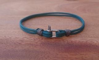 bracelet manille mini vert emeraude