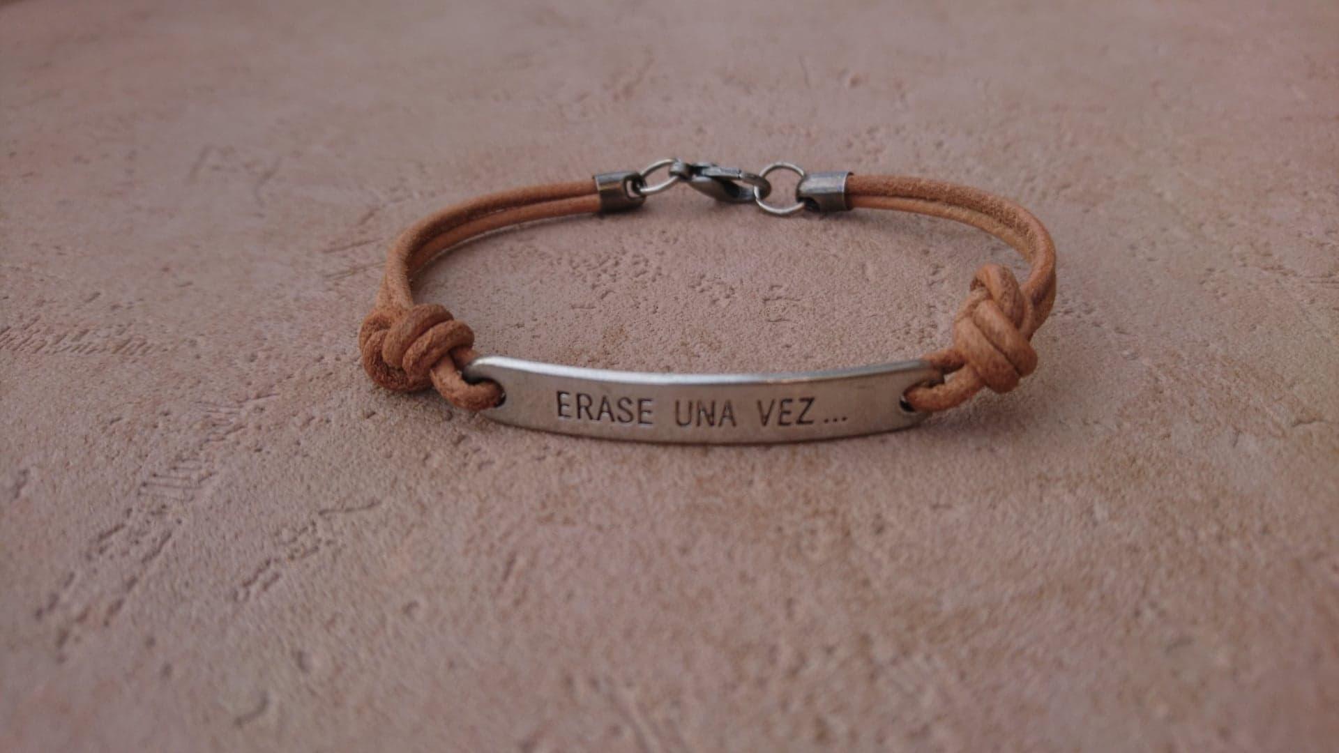 Bracelet Il était une fois - cuir naturel
