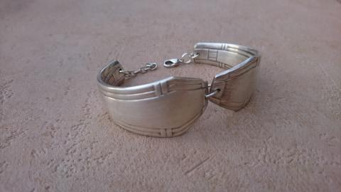 Bracelet en manches de fourchettes recyclées - art déco