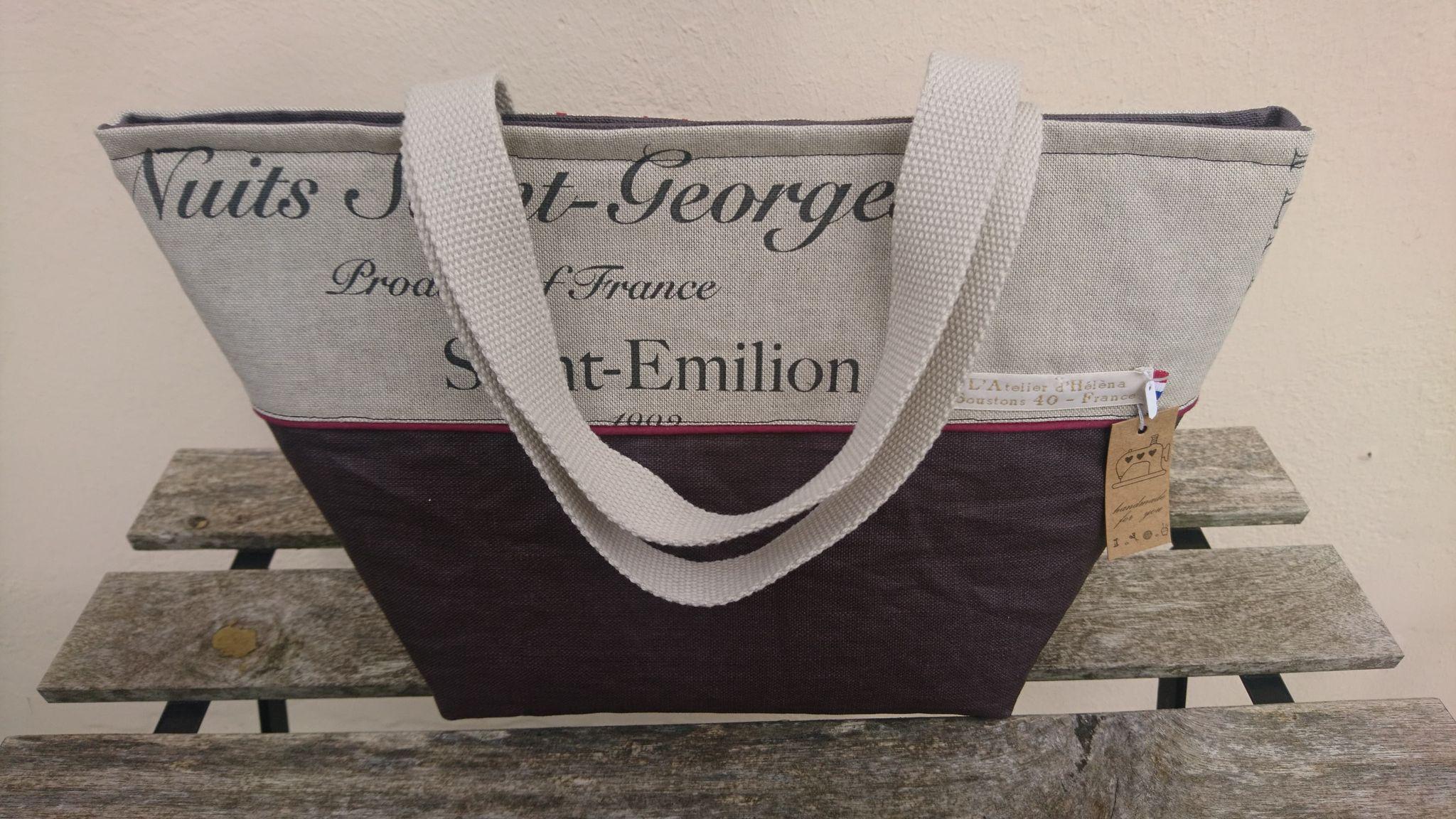 Lunchbag - sac à repas isotherme - vignobles français