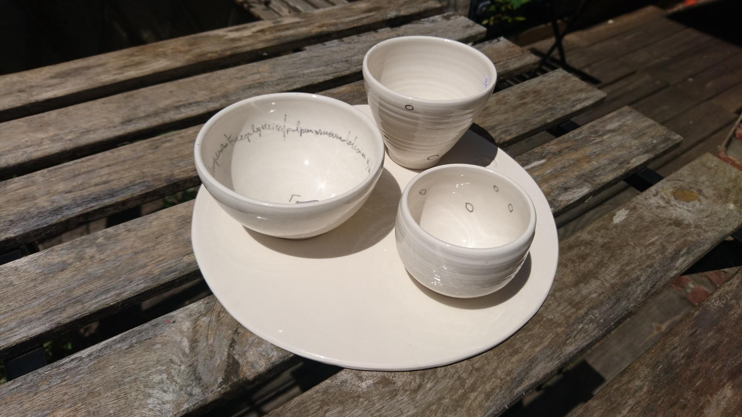 Ensemble céramique blanche