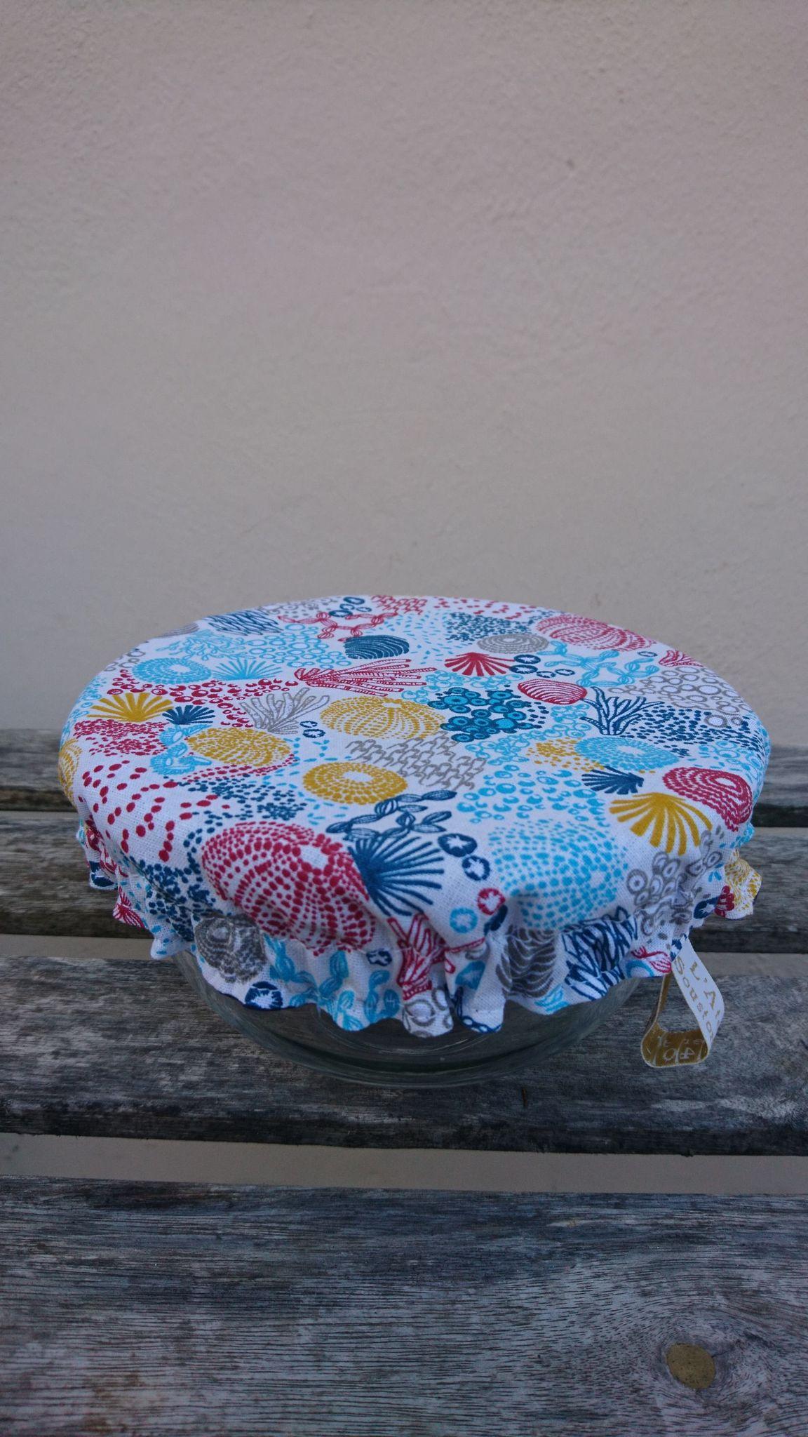 S - charlotte couvre-bols ou saladiers lavable coton - coloris au choix