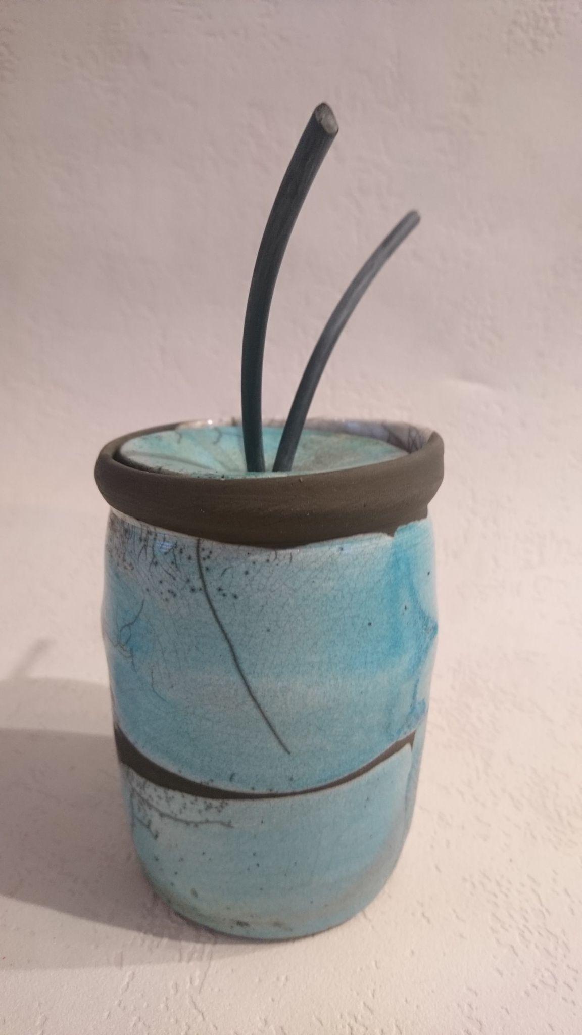 Boîte raku bleu