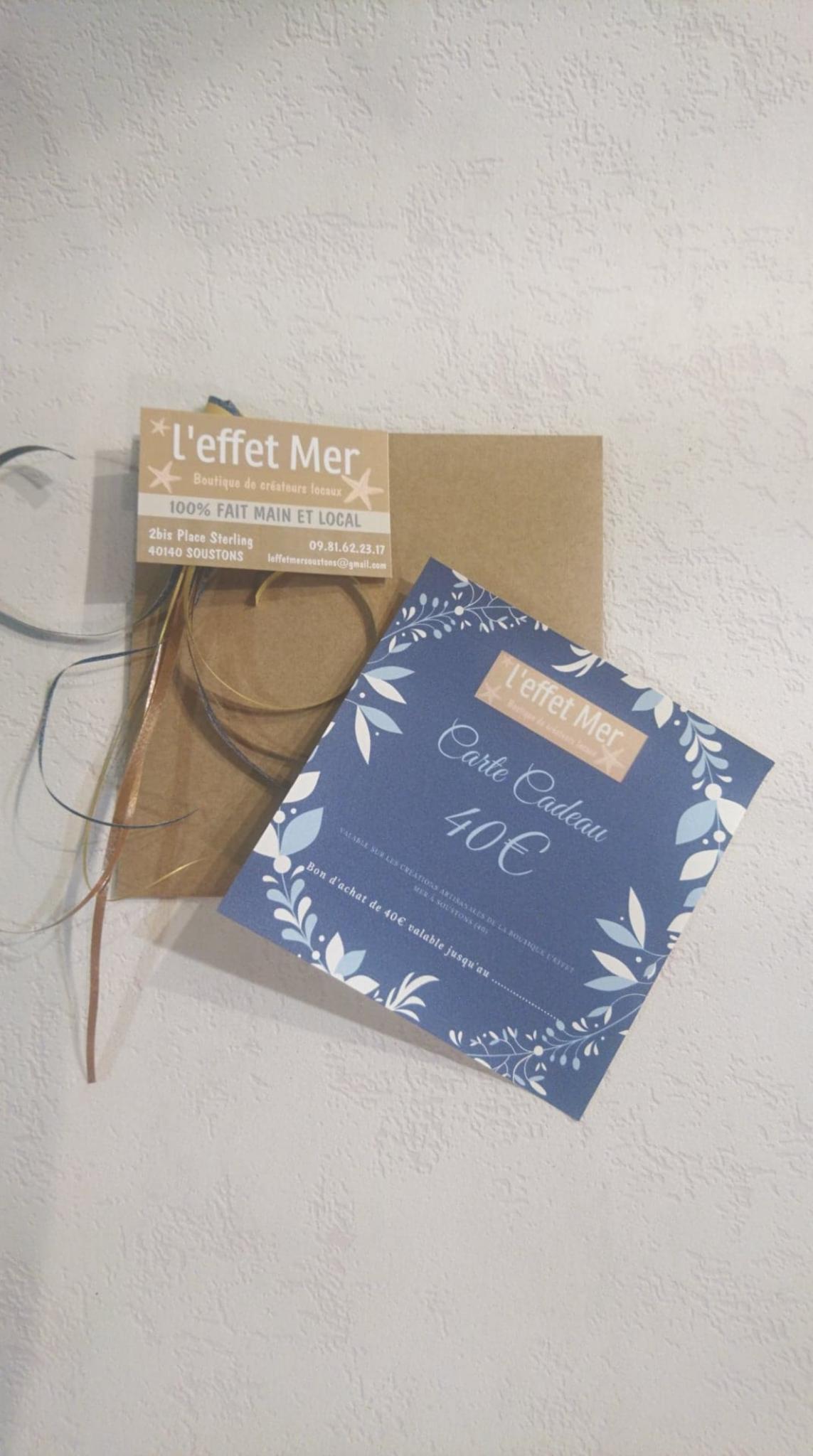 Carte cadeau papier ou mail  - montant au choix
