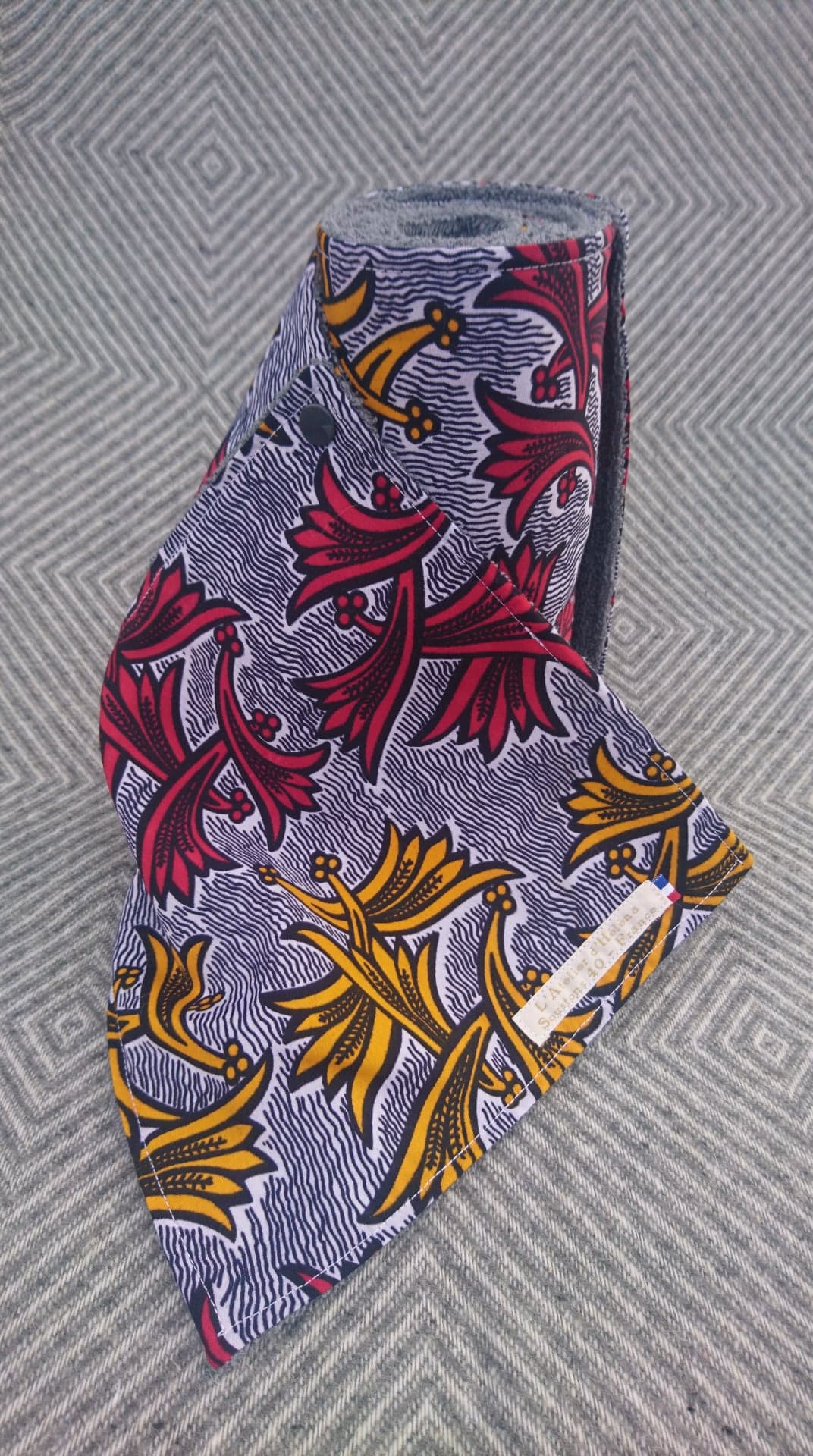 Rouleau d\'essuie-tout 8 feuilles coton/éponge WAX africain