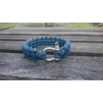 bracelet homme inox bleu noir