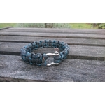 bracelet homme inox bleu gris2