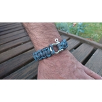 bracelet homme inox bleu gris