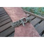 bracelet homme inox noir beige