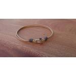 bracelet manille mini beige