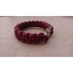 bracelet survie rouge inox (2)